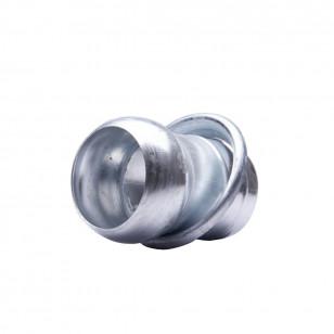 Portagomma sferico maschio a 2 bordi da ø80 a ø150