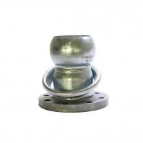 Semigiunto flangiato sferico maschio da ø80 a ø150